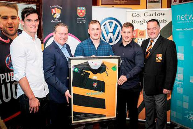 The brand new design was introduced to club members and club sponsors at a special launch event in the Oakpark Clubhouse in Carlow