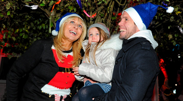 RTE presenter Miriam O'Callaghan, Charlotte Donohue, age 5, Rathmichael, and Leinster player Isaac Boss were on hand to help Light Up LauraLynn