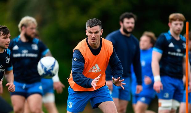 Jonathan Sexton will sit out Leinster's PRO14 Rainbow Cup clash with Connacht. Photo: Stephen McCarthy/Sportsfile