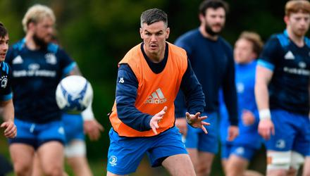 Jonathan Sexton during Leinster rugby squad training at UCD in Dublin. Photo by Stephen McCarthy/Sportsfile