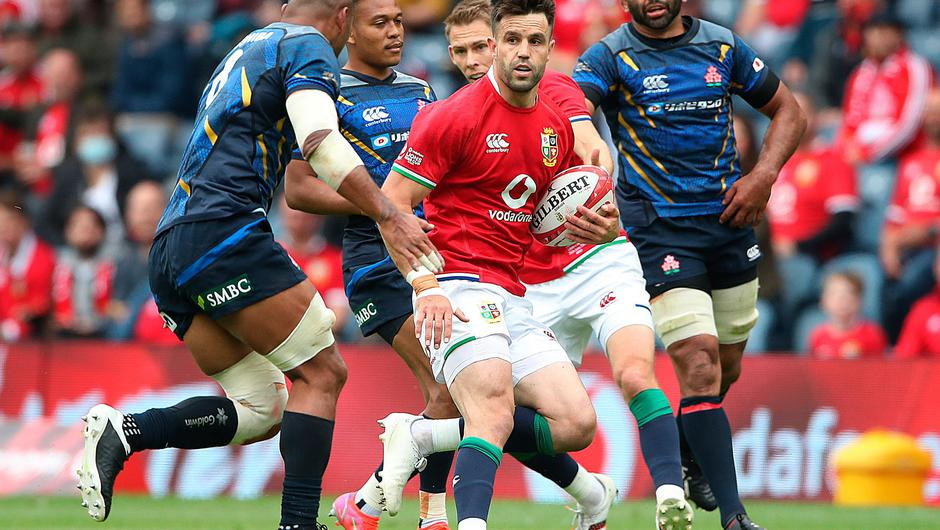 Lions captain Conor Murray during the test against Japan at BT Murrayfield Stadium. (Photo by Ian MacNicol/Getty Images)