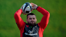CJ Stander in action during training this week. If Stander and his team-mates win the back-row battle, it will go a long way to securing the win