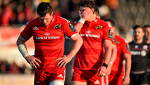 A dejected Peter O'Mahony leaving the Allianz Park after last week's defeat to Saracens