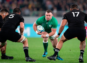 Dave Kilcoyne in action for Ireland against New Zealand in last October's World Cup quarter-final. Photo: Juan Gasparini/Sportsfile