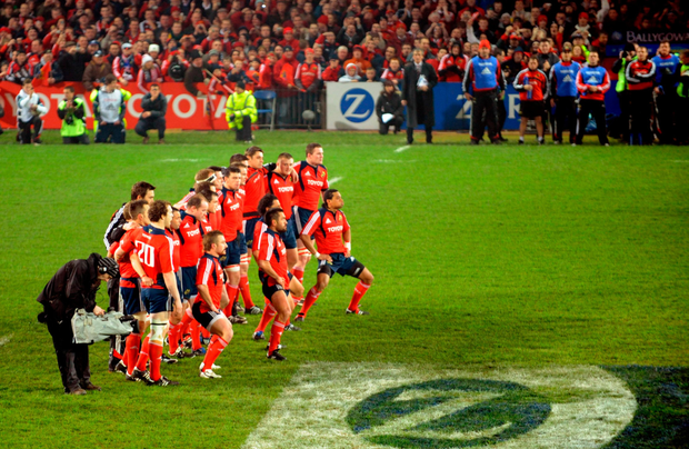 The Munster Haka was one of the most iconic images from the province's clash against New Zealand back in 2008. Photo: Sportsfile