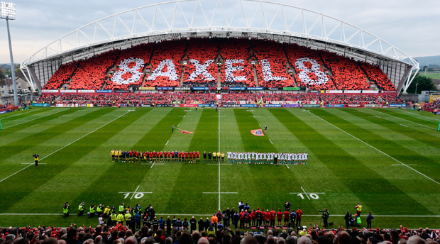 Fans pay tribute to Anthony Foley at last weekend's clash against Glassgow Warriors. Picture: Sportsfile