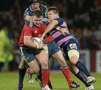 Dave Kilcoyne in action for Munster