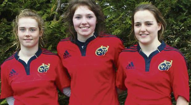 Carrick's Chloe Blackmore and Aoife Moore, who lined out for the Munster U-18s last Saturday