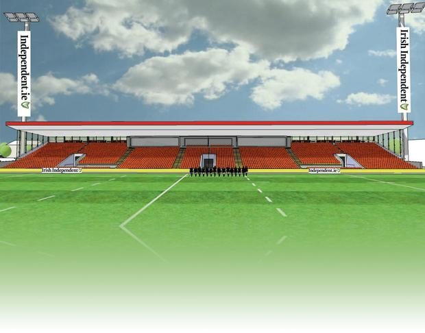 An artist's impression of the stand at Irish Independent Park