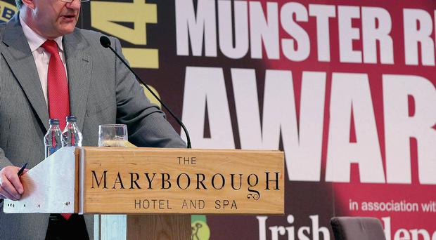 Munster rugby chief executive Garrett Fitzgerald at the annual awards yesterday