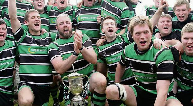 Clonmel celebrate after beating Clanwilliam in the Munster Junior Cup final