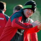 Munster's Peter O'Mahony has his eyes on the prize during squad training this week ahead of tomorrow's trip to Saracens