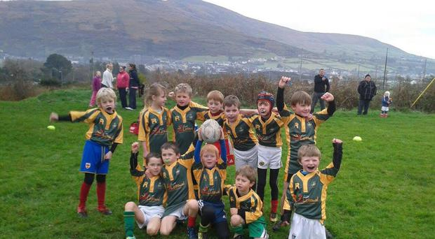 Listowel U-7s celebrating after a successful blitz recently in Caherciveen