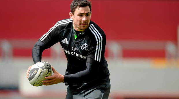 Munster's Felix Jones in action during training ahead of the game against Ulster