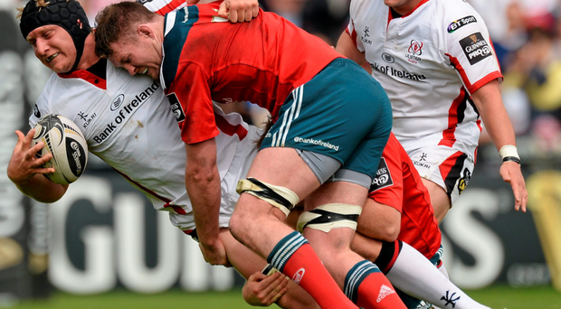 Munster were disappointed to give away a lead against Ulster but are attempting to take the positives from the draw SPORTSFILE