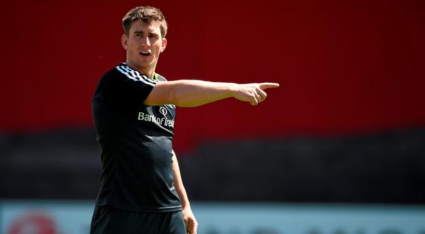 Munster's Ian Keatley during squad training