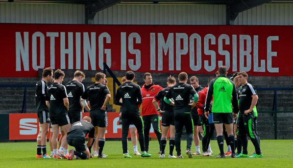 Brian Walsh (in red, centre) is hoping Munster can get off to a good start