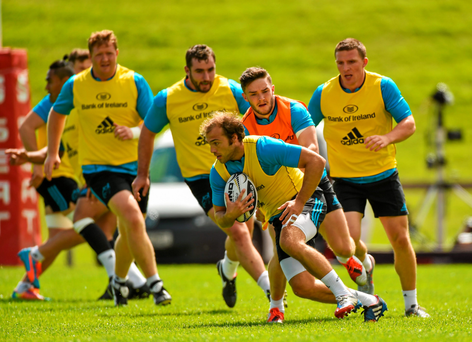 Munster's Duncan Williams in action during squad training