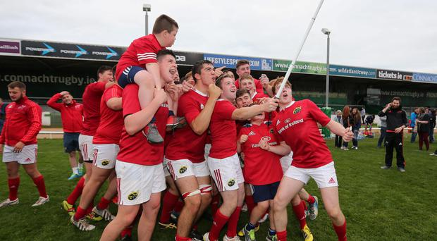 Munster U-19s celebrate their inter-pro title