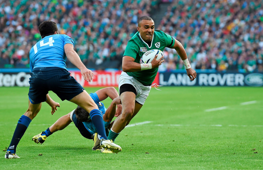 Munster's Simon Zebo has had some time to impress at full-back during the World Cup