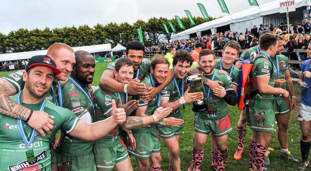 Kinsale celebrate their Sevens success