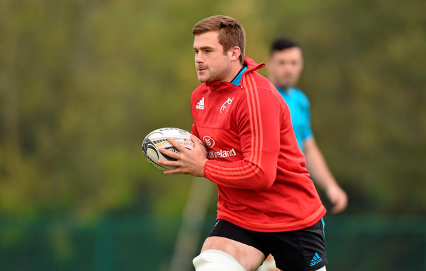 CJ Stander in action during Munster training