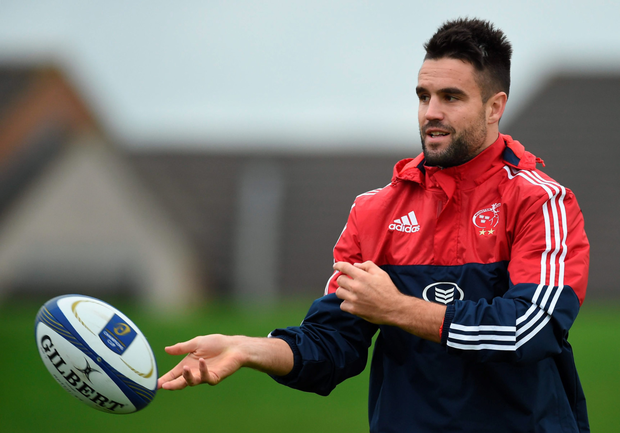 Conor Murray warms up during training in Limerick