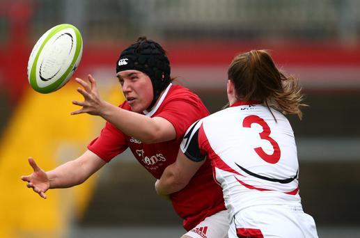 Elaine Anthony in action for Munster
