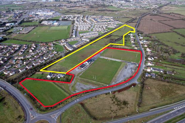 Old Crescent's plans to extend their Rosbrien grounds – marked in yellow is the land they are aiming to buy
