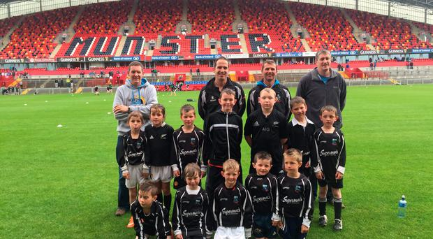 Scariff minis pictured at Thomond Park