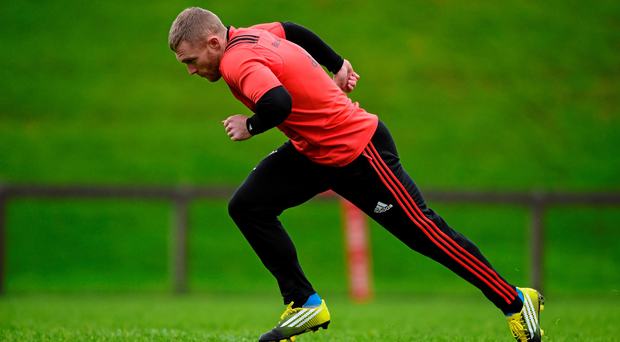 Keith Earls in training (Sportsfile)