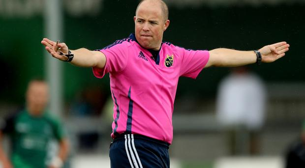 IRFU Referee Development Manager Peter Fitzgibbon Photo:©INPHO/James Crombie
