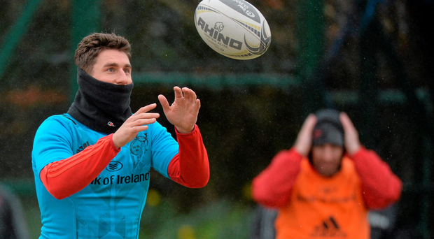 Munster's Ian Keatley in action during squad training. Photo: Sportsfile