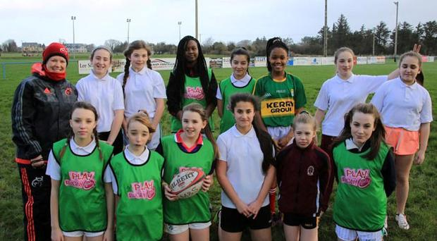 'Nine national schools within the local area took part which saw over 200 girls experiencing rugby within a controlled and fun environment' Photo: David Gordon