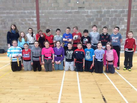 Pupils from Derrinacahara National School, Dunmanway