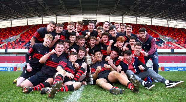 Waterpark U-18s celebrate their success at Thomond Park
