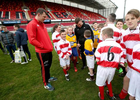 Dave Kilcoyne and Robin Copeland at a blitz in Thomond Park