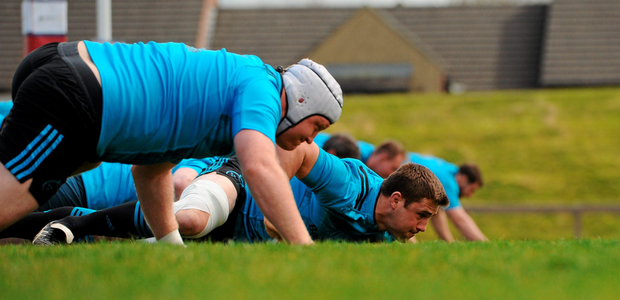 Munster's CJ Stander goes through his stretching routine during training at UL Photo: Seb Daly/ Sportsfile