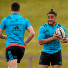 Munster's Francis Saili (right) and Conor Murray during training in UL Photo: Seb Daly / Sportsfile