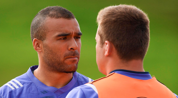 Simon Zebo (left) and CJ Stander during training in UL ahead of the start of the Pro12 season Photo: Stephen McCarthy / Sportsfile