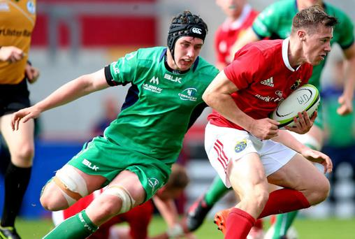 James Taylor in action for the Munster U19s in their win over Connacht last weekend.
