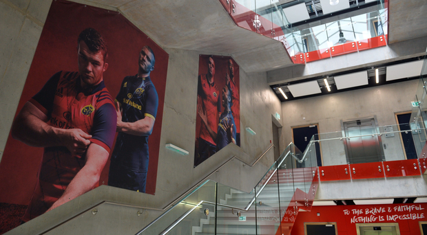 The reception hall of Munster's new High Perfromance Centre in UL. SPORTSFILE