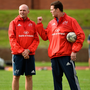 Munster defence coach Jacques Nienaber (left), here with Rassie Erasmus, has been a big addition to the coaching staff