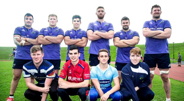Niall Scannell, John Ryan, Alex Wootton, Darren O'Shea, Duncan Casey and Donnacha Ryan with age-grade players Eoin Clancy (Old Crescent RFC), Daniel Delaney (UL Bohemians RFC), Patrick Tuite (Garryowen FC) and Jack