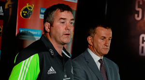 Anthony Foley alongside Munster CEO Garrett Fitzgerald back in 2014. Photo: Sportsfile