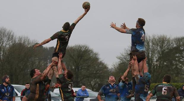 One of the Mallow seniors' second-rows climbs highest to steal a lineout