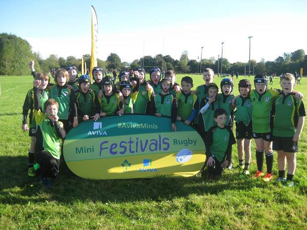 The Mallow RFC U-10s at the Aviva Minis Festival earlier this season
