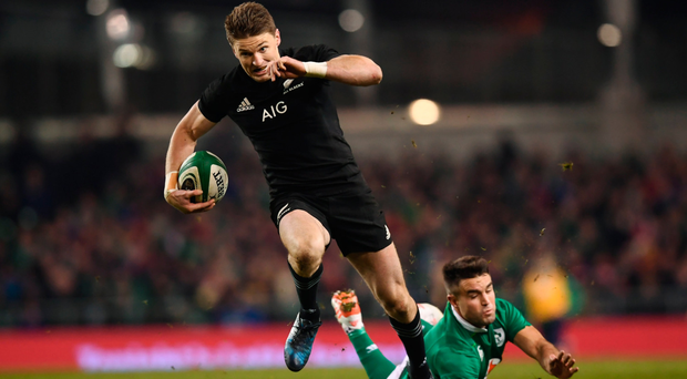 It is always hard to get past Conor Murray and Beauden Barrett did well to do so Picture: Sportsfile