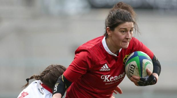 Aine Staunton in action for the Munster Women's team