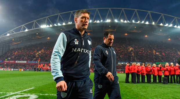 On his return to Thomond Park, Ronan O'Gara won't have been happy with another embarrassing Racing loss to Munster. SPORTSFILE